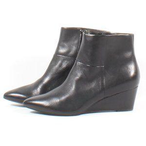 Cole Haan Eneida Black Heel Wedge Leather Booties